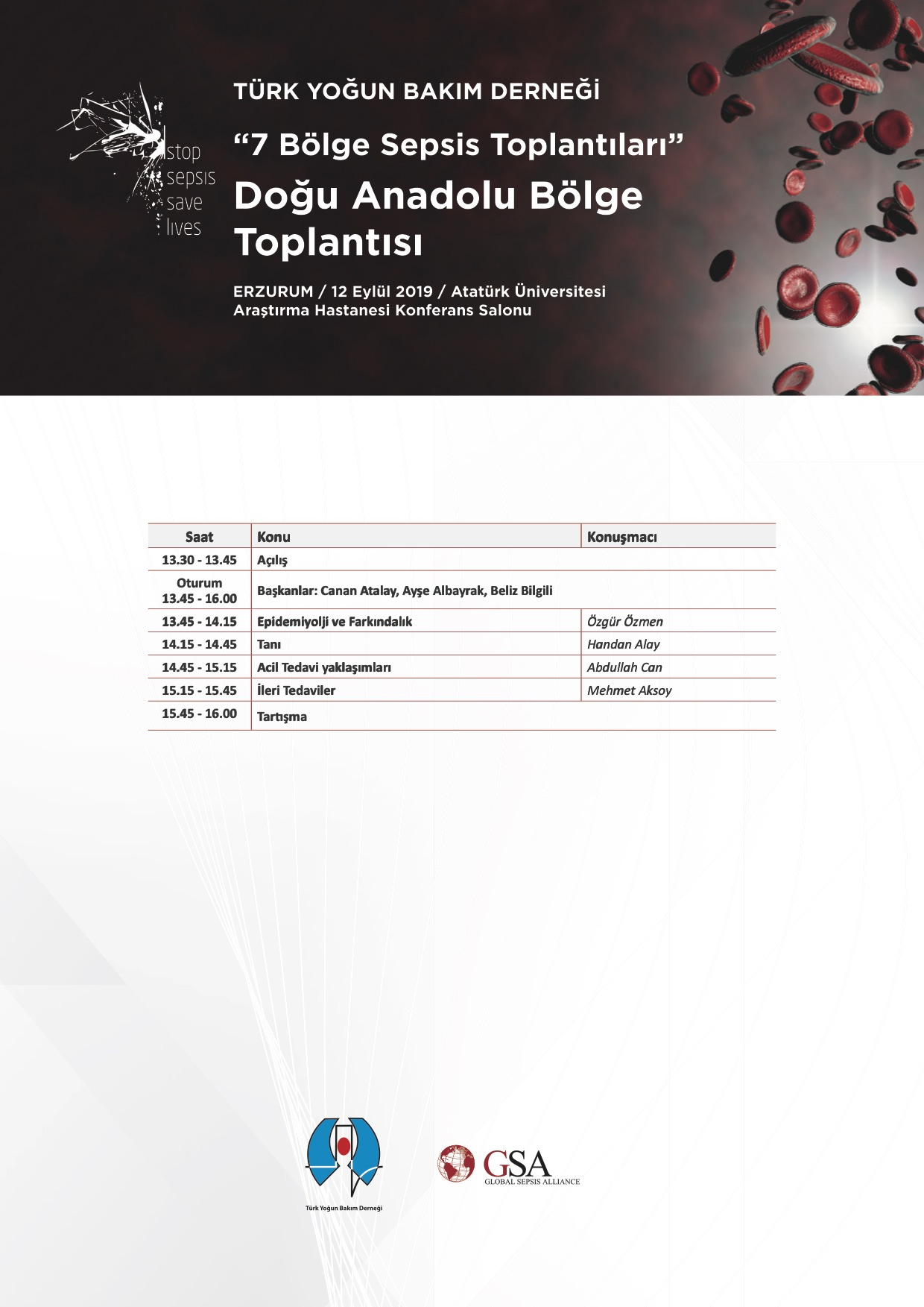 """""""7 Bölge Sepsis Toplantýlarý"""" Doðu Anadolu Bölge Toplantýsý ardýndan…"""